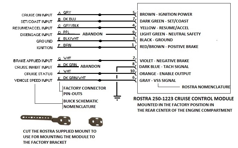 Rostra tie in wiring 1998 buick park ave cruise control replacement rostra wiring diagram apsr at aneh.co